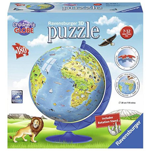 Childrens Globe - 3D Jigsaw Puzzle - 180pc jigsaw puzzle