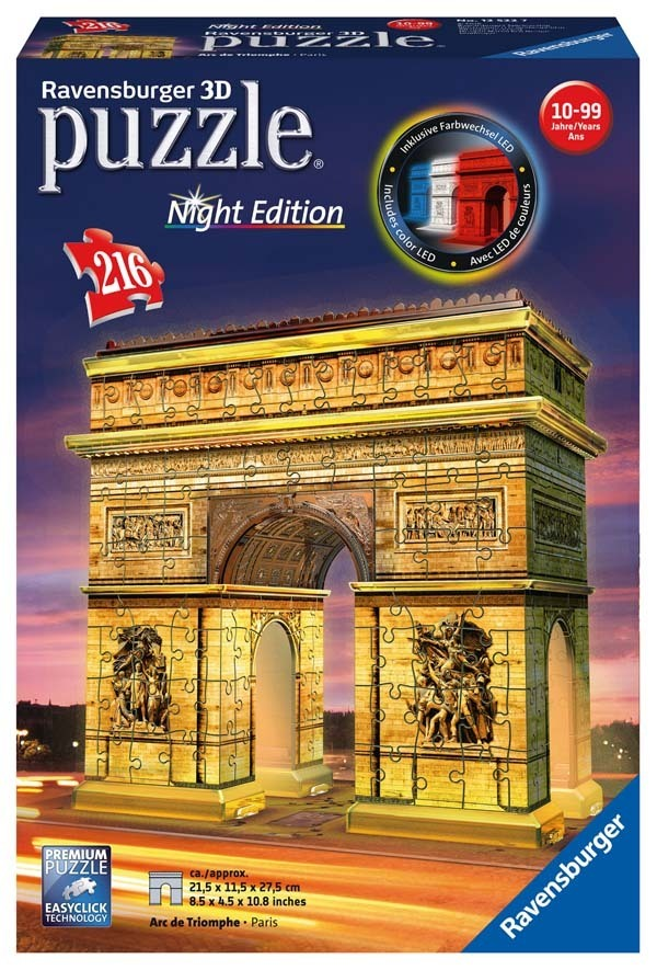 Arc de Triomphe - Night Edition - 216 Scale jigsaw puzzle