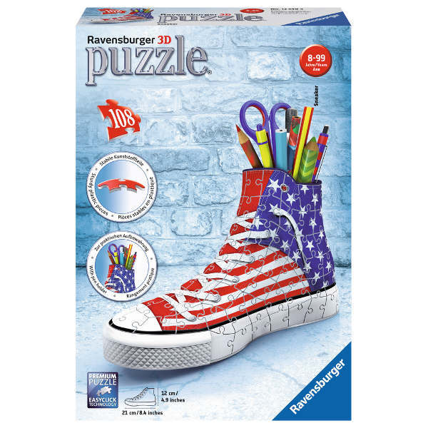American Flag Sneaker 3D - 108pc jigsaw puzzle