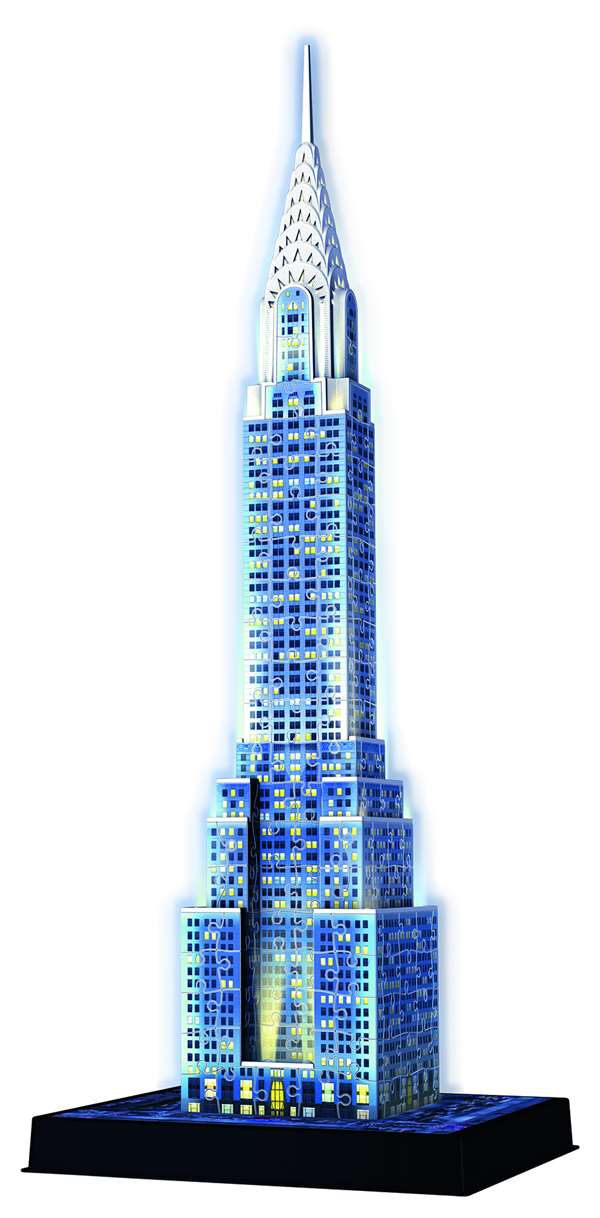 3D Chrysler Building - Night Edition - 216pc jigsaw puzzle