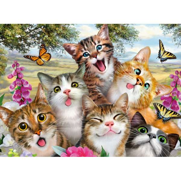 Friendly Felines - 200XXLpc jigsaw puzzle