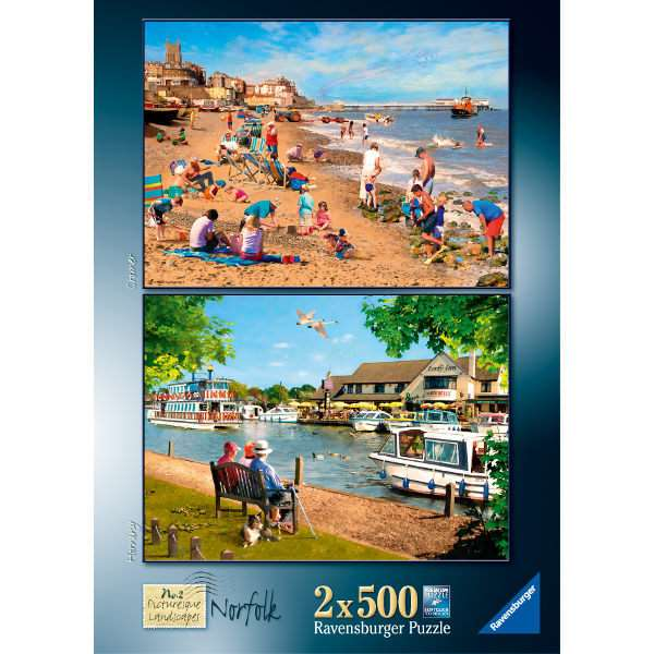 Picturesque Norfolk - 2x500pc jigsaw puzzle