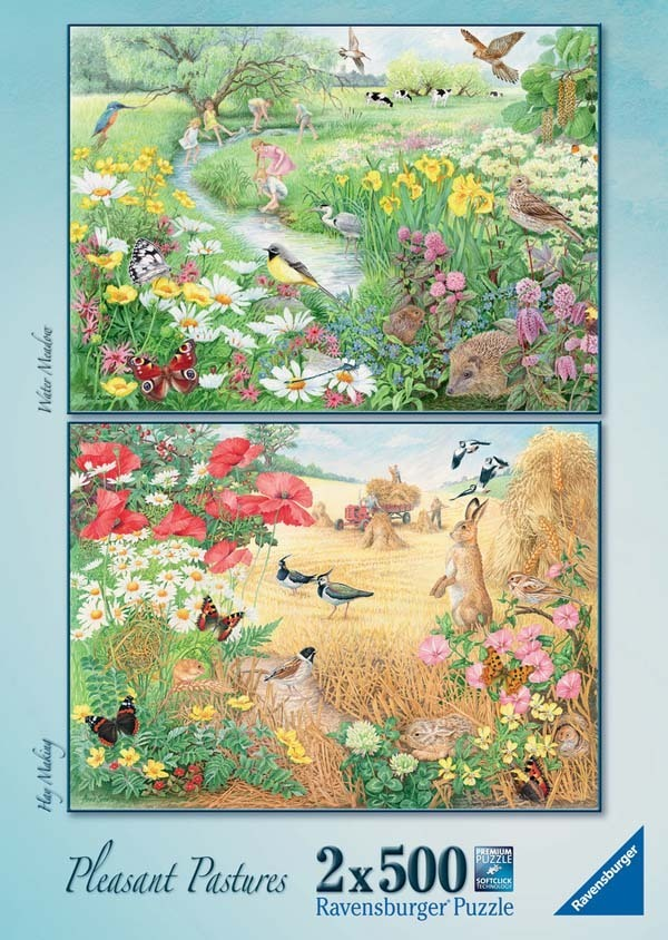 Pleasant Pastures - 2 x 500pc jigsaw puzzle
