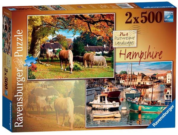 Picturesque Hampshire - 2 x 500pc jigsaw puzzle