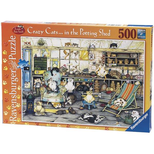 Crazy Cats - In The Potting Shed jigsaw puzzle