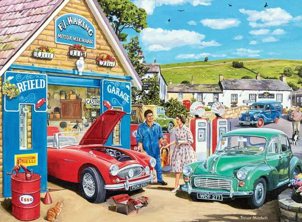Happy Days At Work - The Mechanic jigsaw puzzle