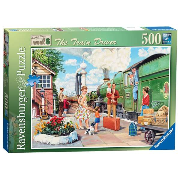 Happy Days At Work - The Train Driver jigsaw puzzle