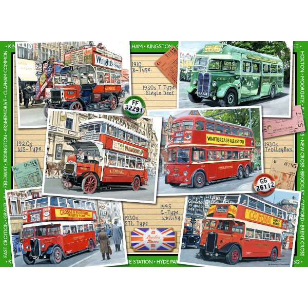 Our Travelling Heritage - No 1 - London Buses Up to 1945 - 500pc jigsaw puzzle