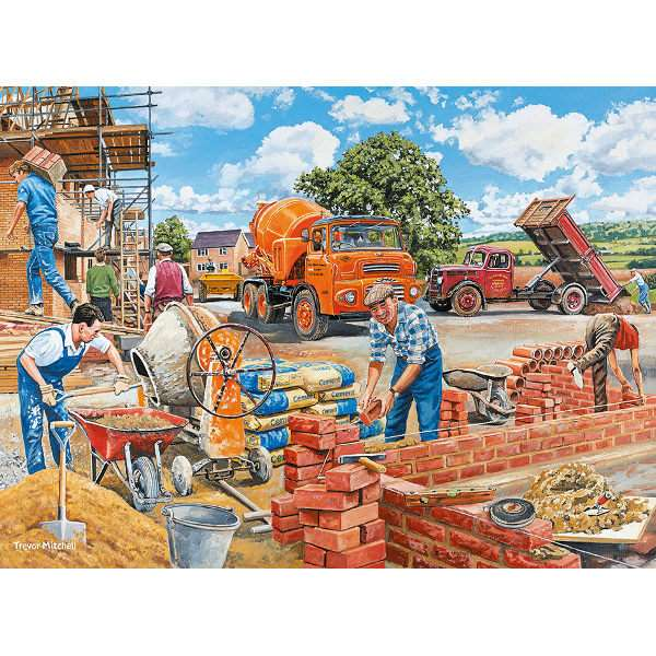 Happy days at Work - The Builder - 500pc jigsaw puzzle