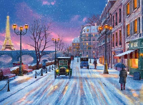 Winter in Paris - 500pc jigsaw puzzle