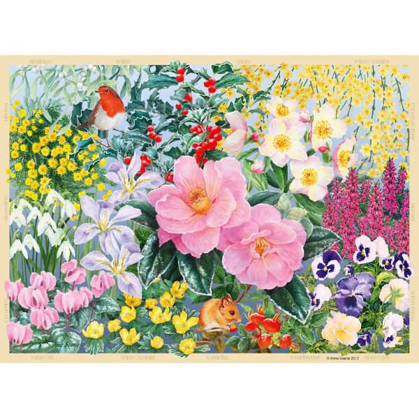 The Cottage Garden Winter 500pc Jigsaw Puzzle From