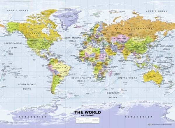 Political World Map - 500pc Jigsaw Puzzle from Jigsaw Puzzles Direct ...