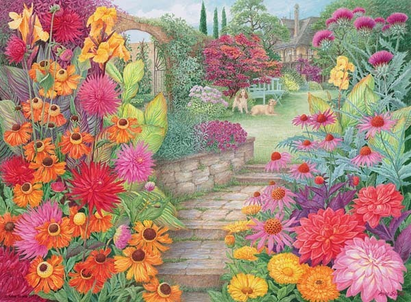 Autumn Glory - Garden Vistas - 500pc jigsaw puzzle