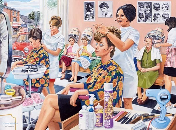Happy Days at Work - The Hairdresser - 500pc jigsaw puzzle