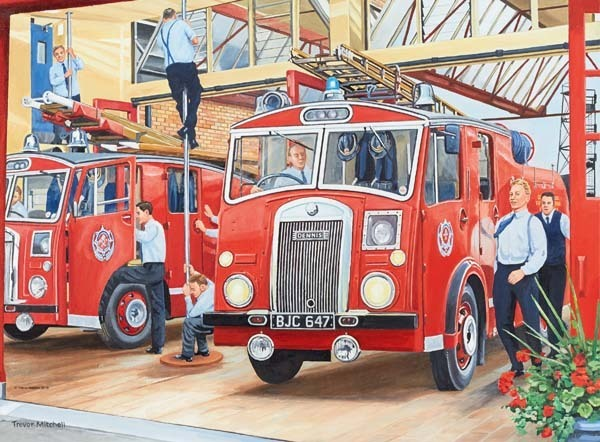 Happy Days at Work - The Fireman - 500pc jigsaw puzzle