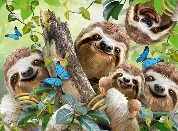 Sloth Selfie - 500pc jigsaw puzzle