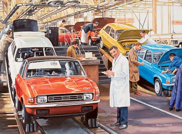 Happy Days at Work - The Factory Worker - 500pc jigsaw puzzle