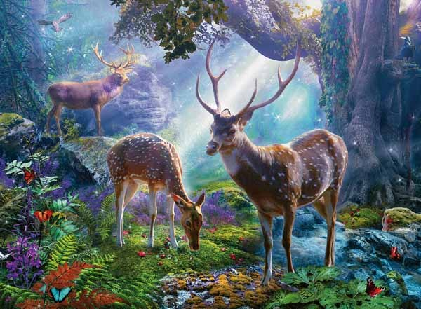 Deer in the Wild - 500pc jigsaw puzzle