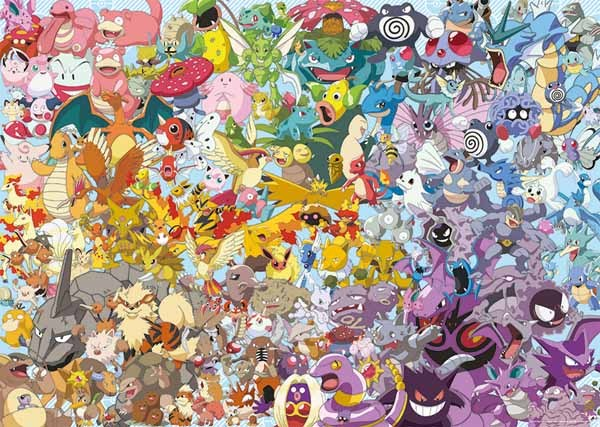 Challenge Puzzle - Pokemon - 1000pc Jigsaw Puzzle from