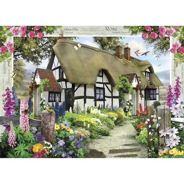 Country Cottage - Rose Cottage jigsaw puzzle
