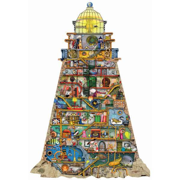 Colin Thompson - Shaped Lighthouse Puzzle - 995pc jigsaw puzzle