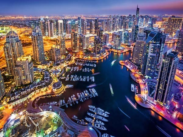 Dubai at Night - 1500pc jigsaw puzzle