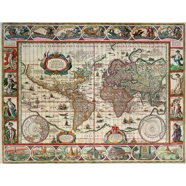 Map Of The World From 1650 Jigsaw Puzzle from Jigsaw Puzzles ...