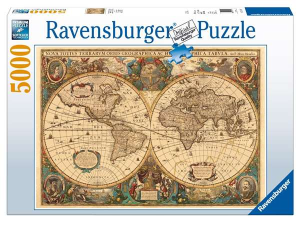antique world map 5000 piece jigsaw puzzle from jigsaw. Black Bedroom Furniture Sets. Home Design Ideas