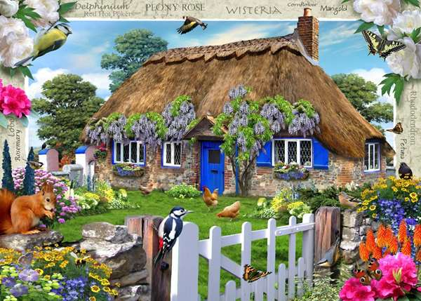 Country Cottage - Wisteria Cottage jigsaw puzzle
