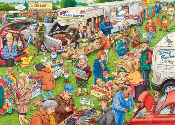 Best of British - The Car Boot Sale jigsaw puzzle