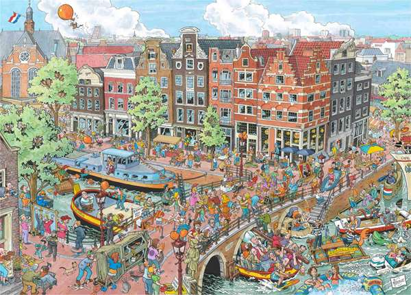 Cities of the World - Amsterdam - 1000pc Jigsaw Puzzle ...