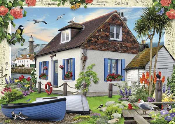 Country Cottage - Fishermans Cottage - 1000pc jigsaw puzzle