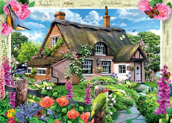 Country Cottage - Foxglove Cottage jigsaw puzzle