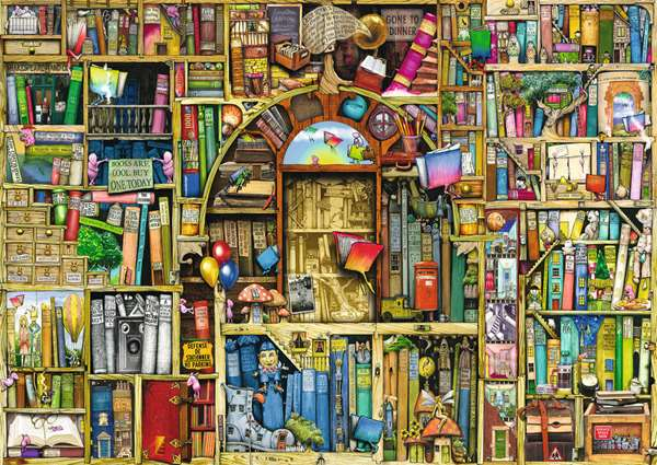 Colin Thompson - The Bizarre Bookshop 2 jigsaw puzzle