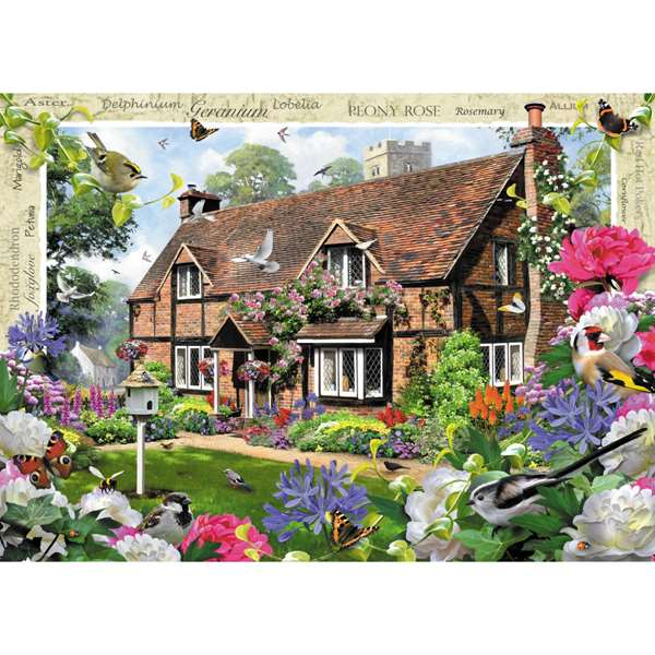 Country Cottage - Peony Cottage jigsaw puzzle