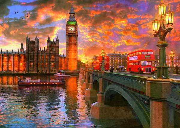 Westminster Sunset - 1000pc jigsaw puzzle