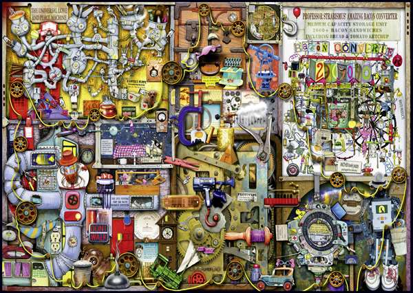 Colin Thompson - The Inventor''s Cupboard - 1000pc jigsaw puzzle