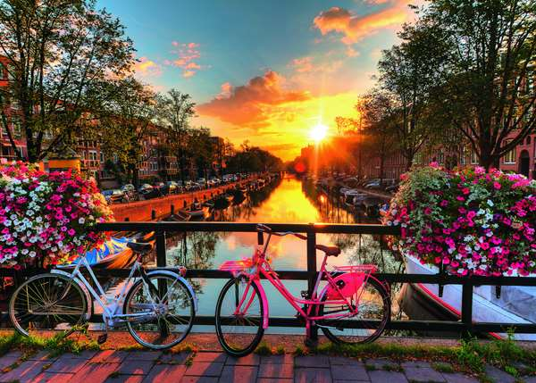 Bicycles in Amsterdam - 1000pc jigsaw puzzle