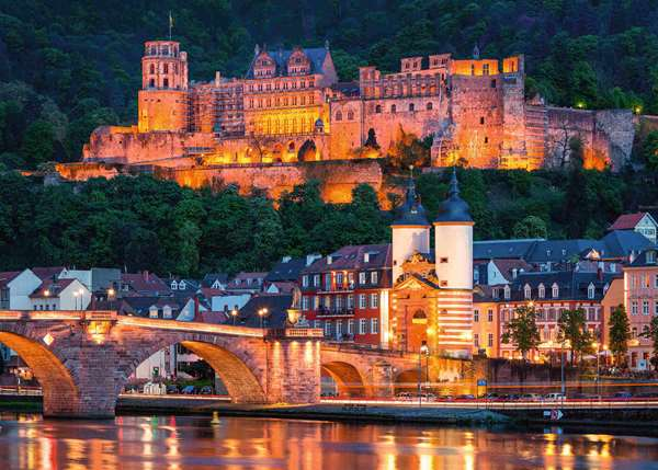 Evening in Heidelberg - 1000pc jigsaw puzzle
