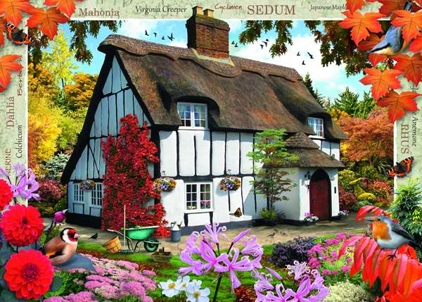 Country Cottage - Sedum Cottage - 1000pc jigsaw puzzle