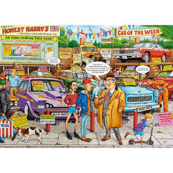 Best of British - Used Car Lot - 1000pc jigsaw puzzle