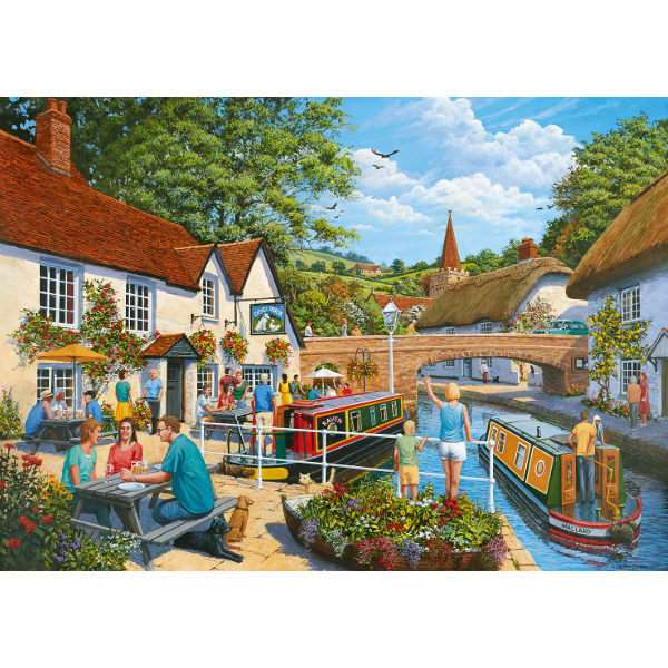 Waterside Tavern - 1000pc jigsaw puzzle