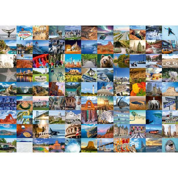 99 Beautiful Places in the USA and Canada - 1000pc jigsaw puzzle