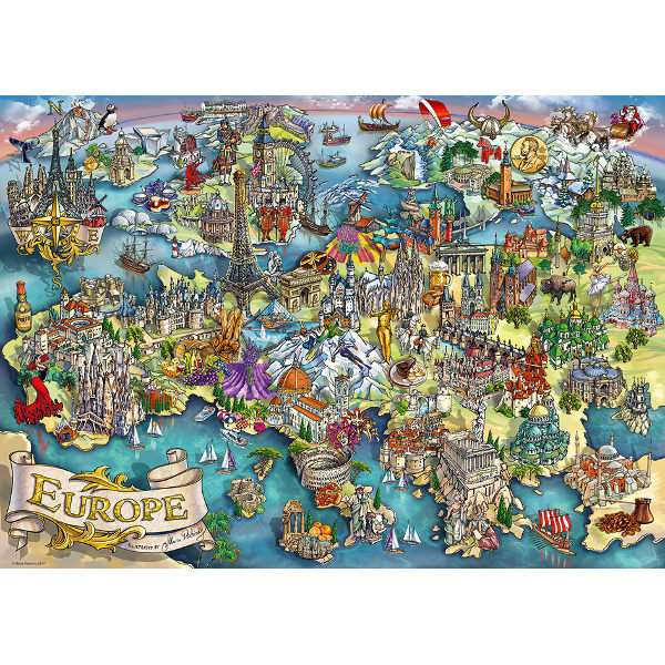 European Wonders - 1000pc jigsaw puzzle