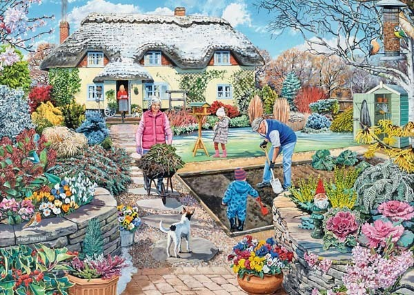 Gardening World - Winter - 1000pc jigsaw puzzle