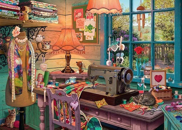 My Haven 4 - The Sewing Shed - 1000pc jigsaw puzzle