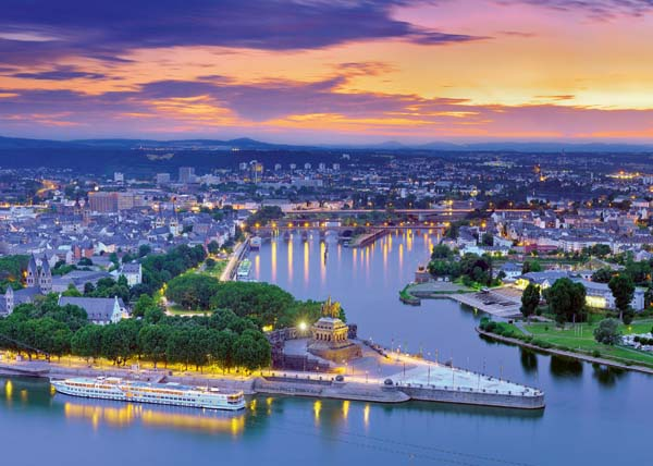 The Rhine and the Moselle Koblenz - 1000pc jigsaw puzzle