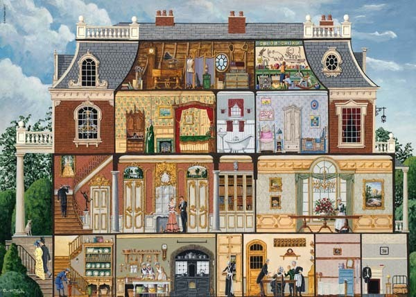 Upstairs Downstairs - 1000pc jigsaw puzzle