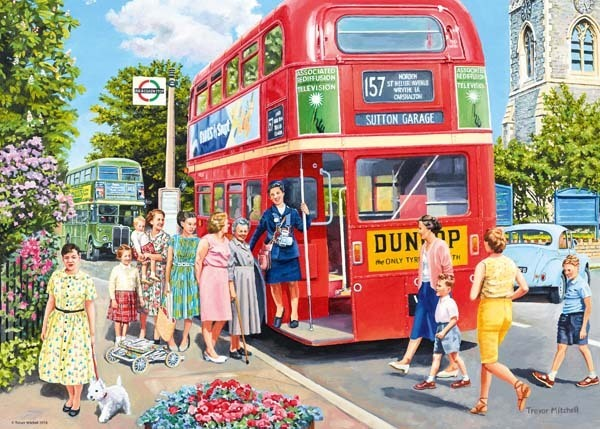 Catch the Bus - 1000pc jigsaw puzzle