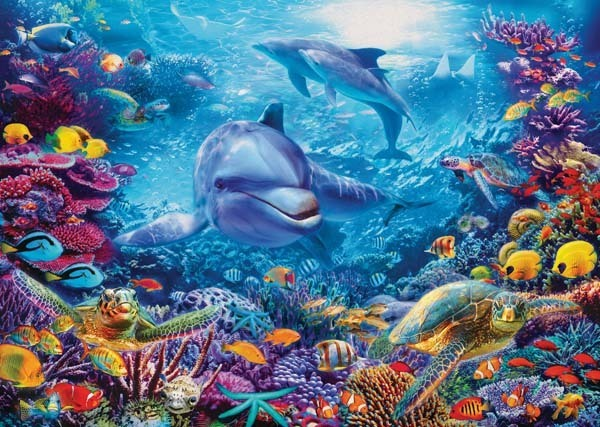 Magnificent Underwater World - 1000pc jigsaw puzzle